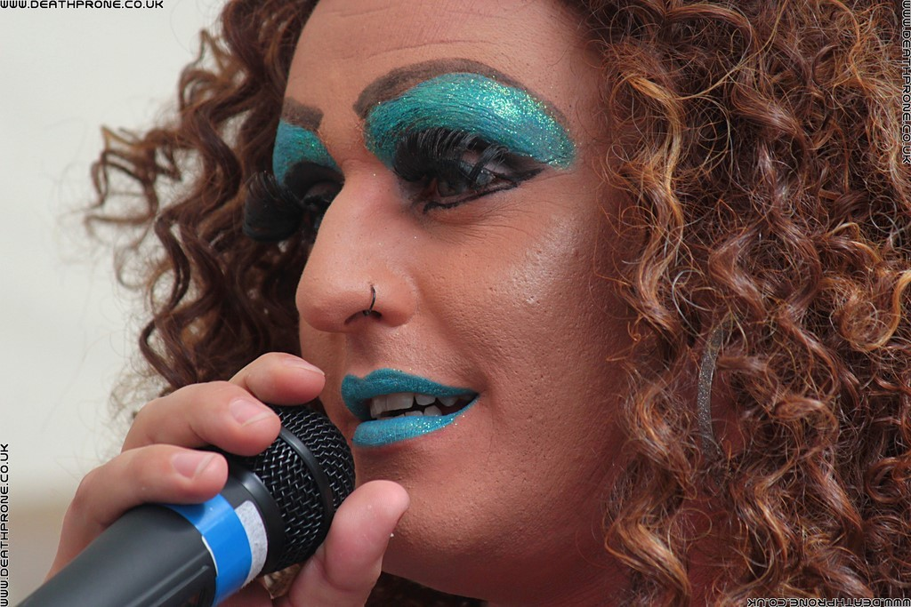 Great drag act Nikki Bockerglory at the Hastings Pride Launch Party, photo by Dean Thorpe of Death Prone Images