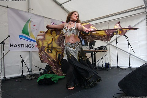 ​An amazing belly dancer at the Hastings Pride Launch Party, photo by Dean Thorpe of Death Prone Images