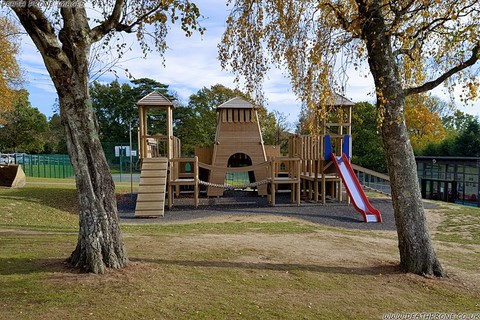 One playground in Battle even has a wooden castle to play on