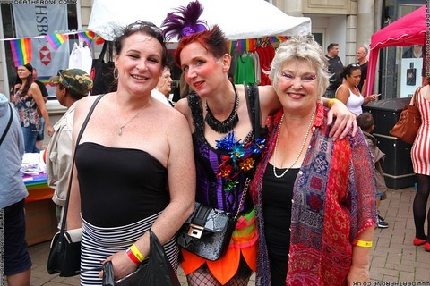 Group shot of performers at the Hastings Pride Launch Party, photo by Dean Thorpe of Death Prone Images