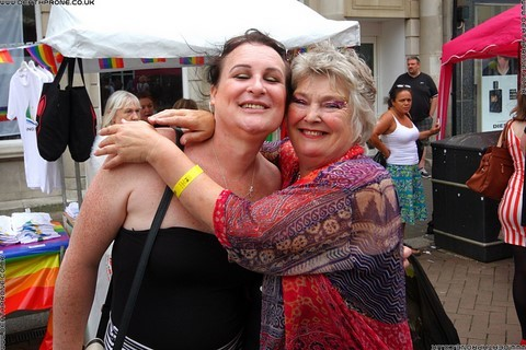 Natasha and Trudy at the Hastings Pride Launch Party, photo by Dean Thorpe of Death Prone Images
