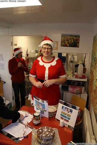 My partner Helen Tadhunter and our stall at the Christmas Fair, we raised over £50 on our stall alone