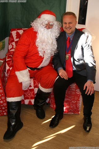 The Deputy Mayor of Hastings James Bacon got to meet Santa, I wonder what he asked for?
