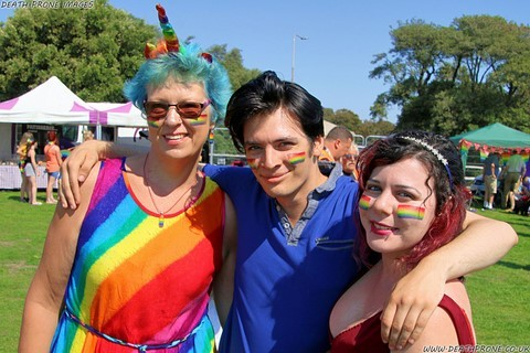 Family photo taken at LGBT event: Hastings Pride 2019