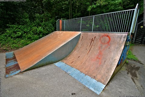 Photo 3 of Heathfield skate park in East Sussex, a great place for skateboards, roller blades, quad skates and BMX's.