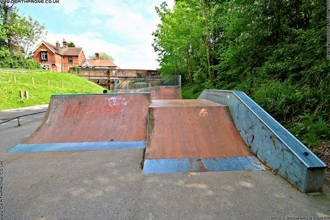 Photo 4 of Heathfield skate park in East Sussex, a great place for skateboards, roller blades, quad skates and BMX's.
