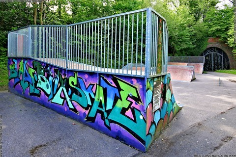 Photo 12 of Heathfield skate park in East Sussex, a great place for skateboards, roller blades, quad skates and BMX's.