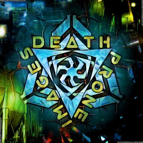 Spirals of green on this Death Prone Images logo