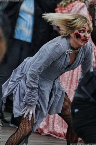 Zombie Dancers doing the Michael Jackson Thriller Dance in 2016
