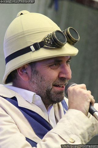 Professor Elemental performing at the Hastings Steampunk Extravaganza event in 2018