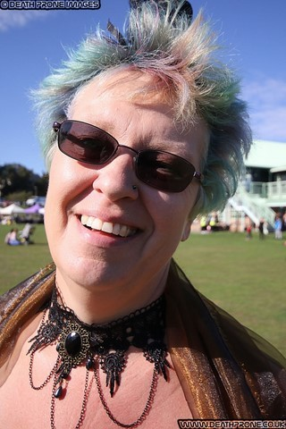​My amazing partner Helen at the Hastings Steampunk Extravaganza, 2018