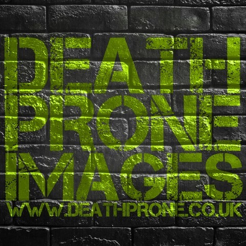 A stencil art graffiti style logo for Death Prone Images