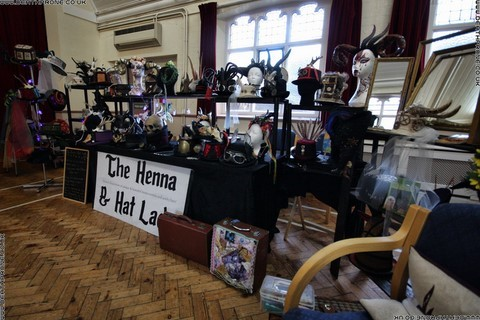 ​The Henna and the Hat Lady stall at the bazaar