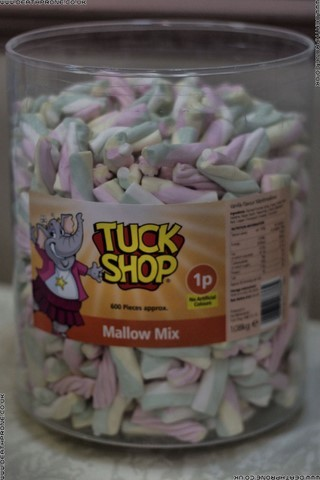 Lots of yummy Tuck Shop Mallow Mix for sale only 1p