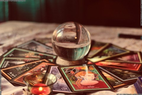 Tarot cards and a crystal ball, I wonder what my future holds