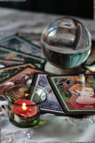 Tarot cards, happy or sad, who knows what will happen